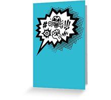 COMIC Curses, Skull, Speech Bubble, Comic Book Explosion, Cartoon Greeting Card