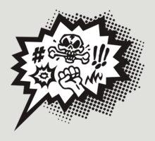COMIC Curses, Skull, Speech Bubble, Comic Book Explosion, Cartoon by boom-art