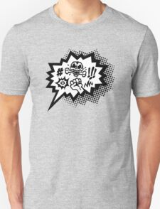 COMIC Curses, Skull, Speech Bubble, Comic Book Explosion, Cartoon Unisex T-Shirt