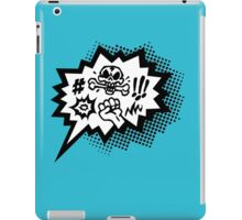 COMIC Curses, Skull, Speech Bubble, Comic Book Explosion, Cartoon iPad Case/Skin