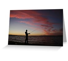 ..a nice night for fishing Greeting Card
