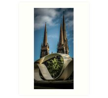 Great Petition and St. Patricks Cathedral, Melbourne Art Print
