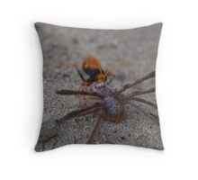 Huntsman becomes the hunted Throw Pillow