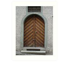 Antique Door, Rapperswill, Switzerland Art Print