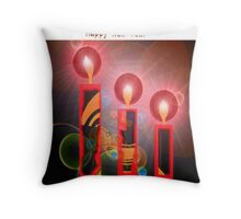 Happy Christmas and Happy New Year Throw Pillow
