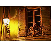 What teddy bears do in the night Photographic Print