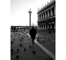 Just him and the birds....... Photographic Print