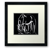 Horse -  Be strong Framed Print
