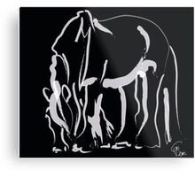 Horse -  Be strong Metal Print