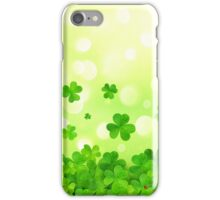 Flying clovers iPhone Case/Skin