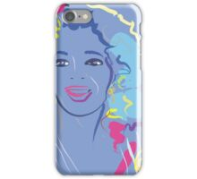 people portrait Oprah in the color purple iPhone Case/Skin