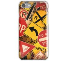 US Traffic signs iPhone Case/Skin