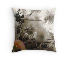 Furry Flora Throw Pillow