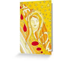 She was all Yellow Greeting Card