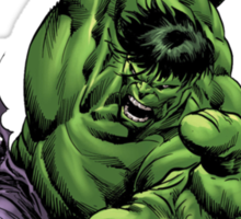 the incredible hulk bruce banner fan made comic book shirt Sticker