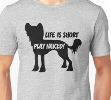 Play Naked! in black Unisex T-Shirt