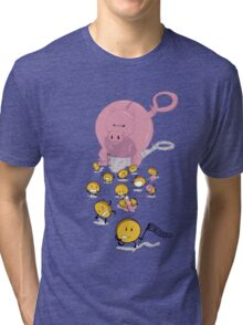 Piggy Bankzilla - Curb Your Coin Compulsion Tri-blend T-Shirt