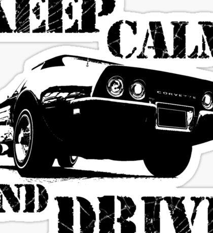 keep calm and drive Sticker