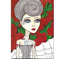 Rockabilly big eyes fantasy art Photographic Print
