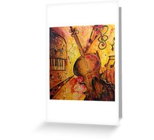 A TOUCH OF MUSIC Greeting Card