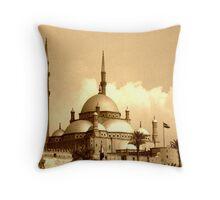 Mosque of Muhammad Ali (Sepia) Throw Pillow