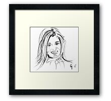 Portrait Maxima in line Framed Print