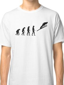 Evolved to Skiing Classic T-Shirt