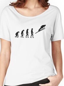 Evolved to Skiing Women's Relaxed Fit T-Shirt