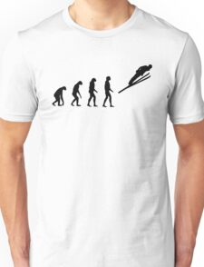 Evolved to Skiing Unisex T-Shirt