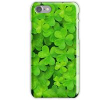 Green clovers leaves field iPhone Case/Skin
