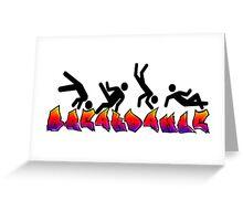 Breakdance Greeting Card