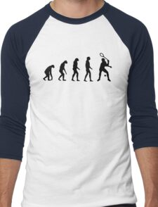 Evolved to Play Tennis Men's Baseball ¾ T-Shirt