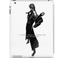 It is only human to commit sin iPad Case/Skin