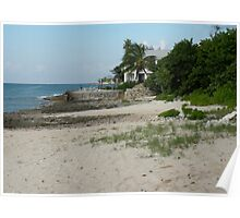 Picture Perfect Cosumel Beach Poster