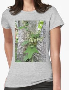 Wild Cucumber On Birch Womens Fitted T-Shirt
