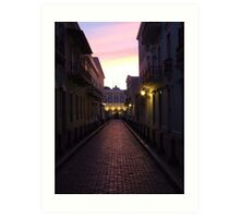 Old San Juan at night Art Print