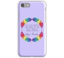 Lana Parrilla Quote (Black text) iPhone Case/Skin