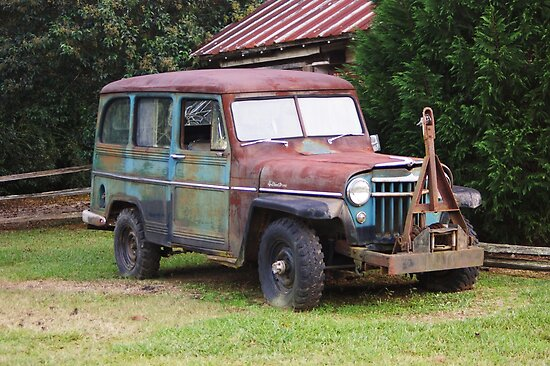 Rusty Willys Jeep by Linda Yates