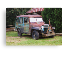 Rusty Willys Jeep Canvas Print