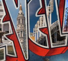 Greetings from Cleveland Sticker