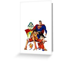 Super heroes Greeting Card