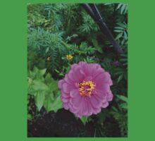 Pink Zinnia Flower Kids Tee