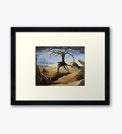 Emerging From a Parched Landscape Framed Print