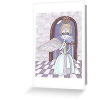 Day of the Dead, Angel, big eyes fantasy art Greeting Card