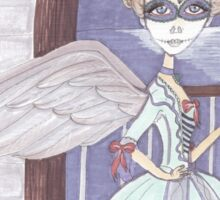 Day of the Dead, Angel, big eyes fantasy art Sticker