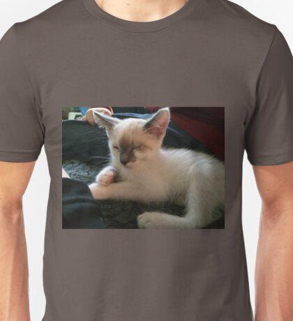 Sleepy Siamese Kitten Unisex T-Shirt