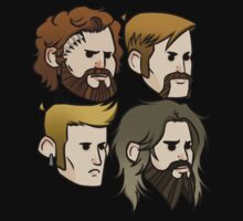 MASTODON cartoon quartet by SophieFLJ