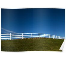 White Fence and Blue sky Poster