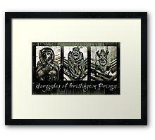 Gargoyles of Bridlington Priory  Framed Print