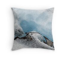 crack in the glacier Throw Pillow
